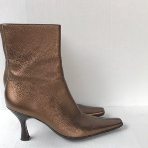 BCBGirls Bronze Metallic Ankle Boots 8.5